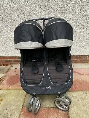 Baby Jogger City Mini Double Pram, With Travel Bag And Rain Cover • 180£