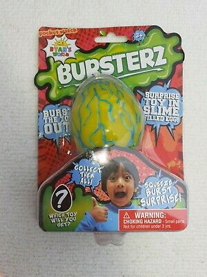 AU13.53 • Buy *NEW AND SEALED* RYAN'S WORLD BURSTERZ Surprise Toy In Slime Ooze Squishy Egg