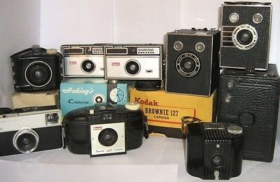 VINTAGE BOX CAMERAS & OTHERS 1920 -1970  ~ Click SELECT To View INDIVIDUAL Items • 3£