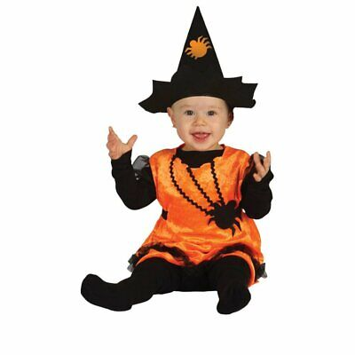 £9.99 • Buy Toddlers Pumpkin Witch Costume - Fancy Dress Outfit Halloween Dress Up Fun Baby