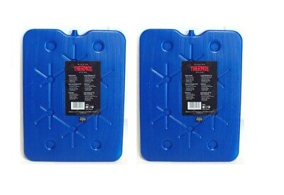 2 X Thermos Freeze Board Ice Pack Large Ice Block Flat Travel Ice Box Pack 800g • 12.89£