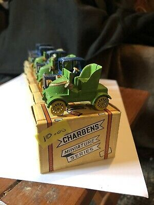 RARE EARLY CHARBENS Miniature DIE CAST VINTAGE CARS Job Lot Of X 8 • 5£