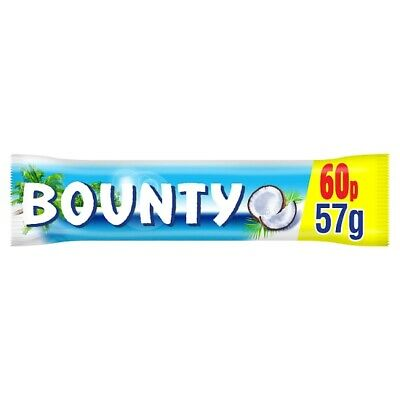 Bounty Coconut Milk Chocolate £0.60 PMP Duo Bar 57g X 24 BARS • 14.40£