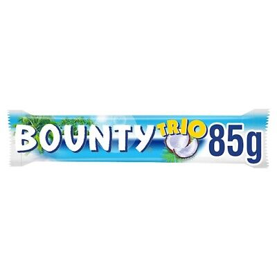 Bounty Coconut Milk Chocolate Trio Bar 85g X 21 BARS • 20.79£