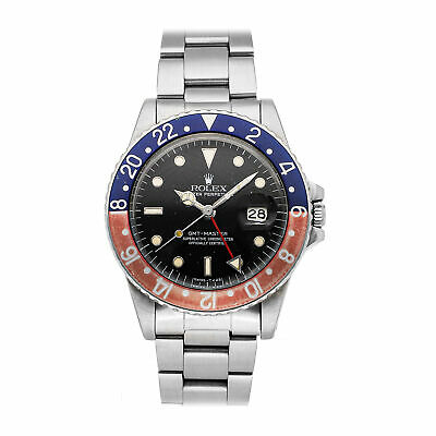 $ CDN16452.06 • Buy Rolex GMT-Master II Pepsi Spider Auto Steel Mens Oyster Bracelet Watch 16750