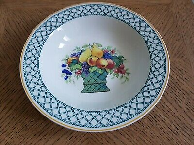 A  Villeroy & Boch Basket Small Rimmed Soup Bowl Diameter 7.75  Very Good Cond • 9.99£