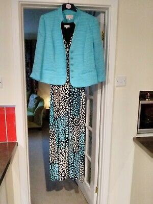 Dress And Jacket By Country Casual CC Size 14 Ideal For Weddings, Excellent Cond • 9£