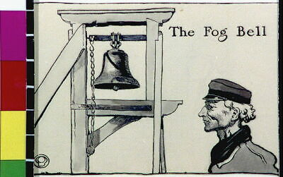 The Fog Bell,1906,Edward Penfield,Man Wearing Hat,The Magenta Village 3438 • 9£