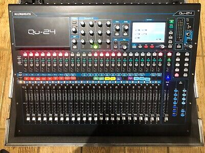 Allen And Heath QU-24 Digital Mixing Console -with Fitted Flight Case  • 1,200£
