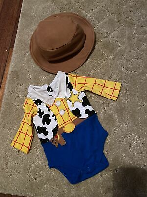 Woody Outfit With Hat 0-3 From Disney Store Worn Once • 6£
