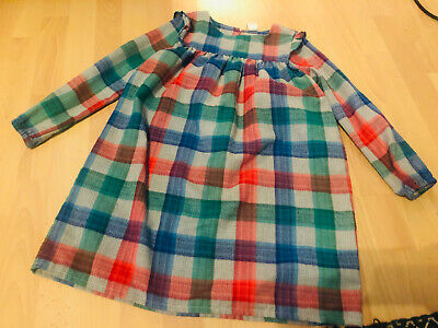Girls Gymboree Dress 7-8 Years Checked Long Sleeved Warm Multi Coloured • 1.10£