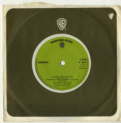 America A Horse With No Name - 1st - Solid UK 7  Vinyl Single Record K16128 • 11.95£