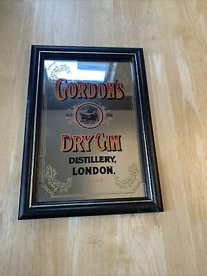 Gordons Dry Gin, Mirror, Pub Advertising, Breweriana, Collectable Man Cave • 45£