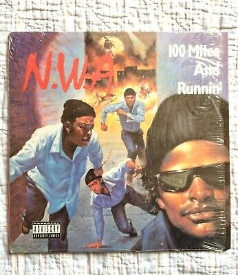 A Rare Old School Hip Hop Vinyl - NWA 100 Miles And Runnin' Ruthless Records • 15£