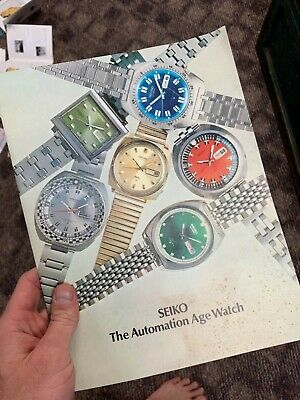 $ CDN131.51 • Buy Genuine Seiko 1960s Vintage Mens Watch Catalog!!