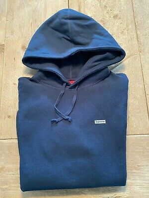$ CDN78.86 • Buy SUPREME HOODIE SMALL LOGO NAVY Size M - PRE-OWNED