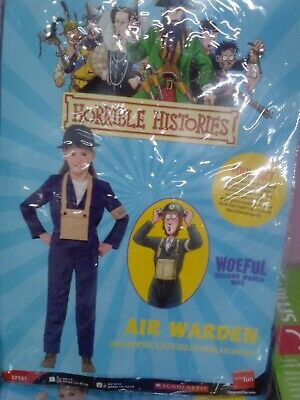 £12 • Buy Horrible Histories Childrens Air Warden Ww2 Fancy Dress Costume Size Large L...