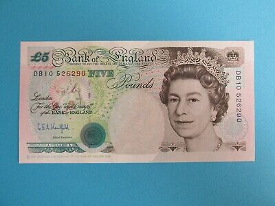 Bank Of England Old Five Pound Note Db10 526290 - Kentfield • 7.50£