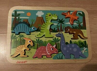 Wooden Dinosaur Jigsaw Puzzle, Fun And Colourful! • 1.90£