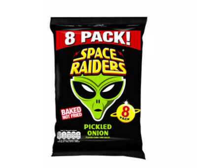 Space Raiders Pickled Onion Cosmic Corn Crisp | 48 Packets | 11.8G | • 17.49£