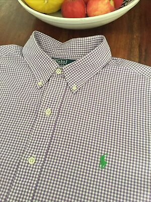 Ralph Lauren Shirt Xl Xxl 27 Inch Pit To Pit Classic Fit Gingham • 8£