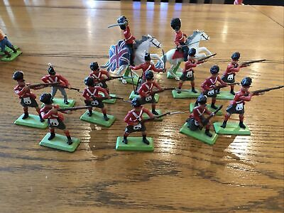 BRITAINS DEETAIL NAPOLEONIC BRITISH 2 X Mounted And 13 X Foot Soldiers • 27.68£