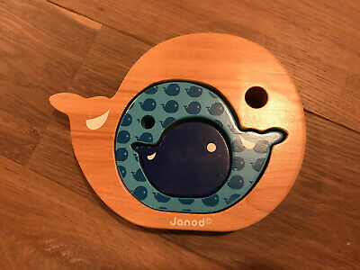 Janod 3 Beech Wood Sorting Whales • 5£