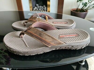Skechers Relaxed Fit Memory Foam  Slippers Size 11 • 30£