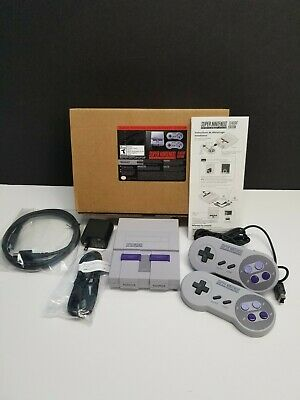 $ CDN211.42 • Buy Super Nintendo Classic Edition 2 Controllers SNES Mini With Modded 250 + Games