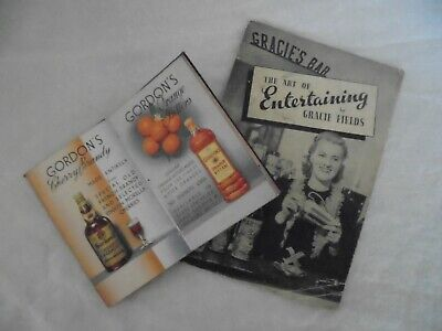 Gordon's Gin Martini Rossi Gracie Fields Vintage Cocktail Booklets • 8.50£