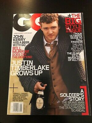 $ CDN9.99 • Buy 2004 September GQ Magazine JUSTIN TIMBERLAKE Great Cover Story & Ads (A12)