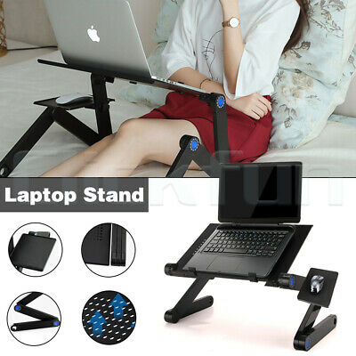 AU25.99 • Buy Adjustable Foldable Laptop Stand Portable Table Bed Sofa Desk Mouse Pad Tray AU