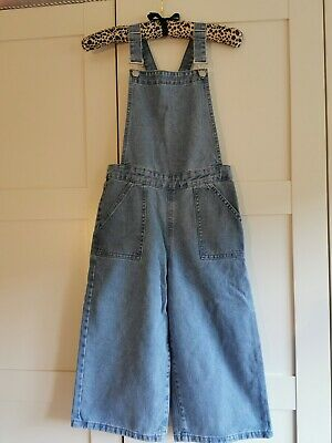 Girls 'George' At Asda Pinafore-style Wide Leg Dungarees, Age 9-10 Years • 2.50£