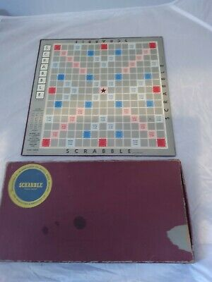 Vintage 1955 J W Spear & Sons Enfield SCRABBLE  Board Game • 5.90£