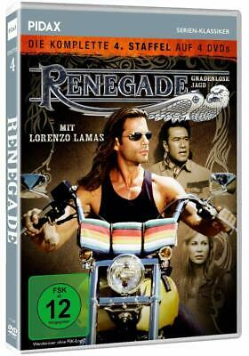 RENEGADE Complete Season 4 Fourth Series Lorenzo Lamas 22 Ep. NEW 4 DVD REGION 2 • 59.99£