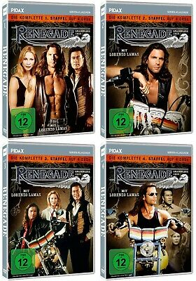 RENEGADE Season 1-4 Complete TV Series 1 2 3 4 Lorenzo Lamas NEW UK REGION 2 DVD • 189.99£