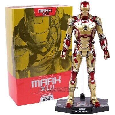 $ CDN114.17 • Buy NEW Hot Toys Iron Man Diecast Mark XLII MK42 With LED Light 1/6th Scale Ironman