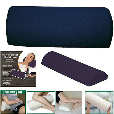 Half Moon Memory Foam Sleep Cushion Back Neck Knee Leg Support Bed Pillow Travel • 9.95£