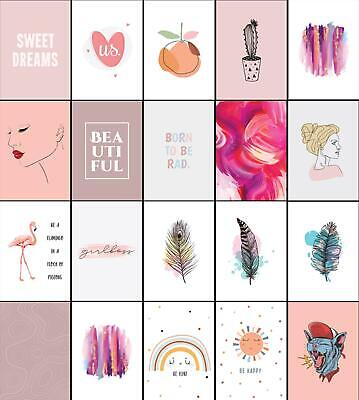 £12.99 • Buy Blush Pink Framed Wall Art Fashion Posters Feathers Flamingos Bedroom Wall Print