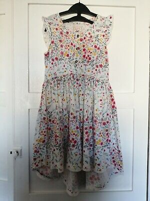 Mantaray Dress Age 7-8. Pretty Floral Pattern. High-low Style. • 1.10£