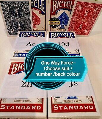 One Way Force Deck Bicycle Card Magic Trick Choose Force Instructions Free P&P • 4.20£
