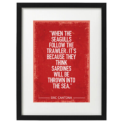 £12.99 • Buy Eric Cantona Quote Manchester United Art Print / Poster