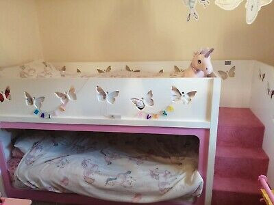 Funtime Girls Handmade Bunk Beds Perfect For A Princess • 75£