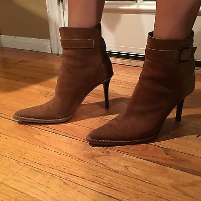 Women Gucci Brown Suede Ankle Boots Size 37 1/2C  • 142.66£