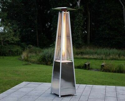 £349.99 • Buy Gas Pyramid Patio Heater 13Kw In Stainless Steel Outdoor Wheels Cover Included