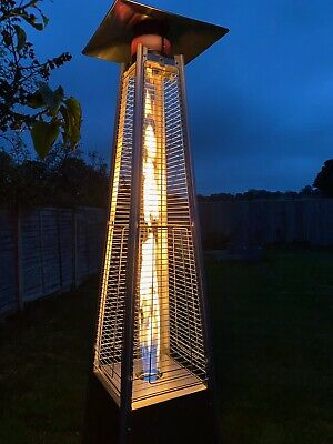 £199.99 • Buy Modern Pyramid Patio Heater 13KW Stainless Steel Outdoor Wheels Cover Included