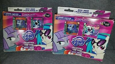 New Lot Of 2 My Little Pony Collectible Card Game Rock N Rave Theme Decks • 20.48£