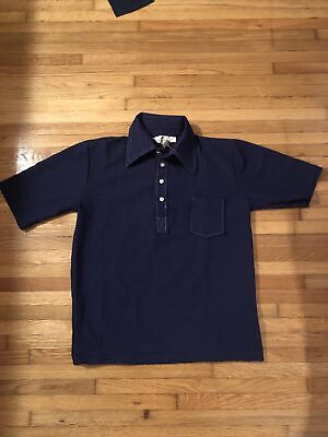 $ CDN30.33 • Buy Vintage 70s Unicorn Sportswear Rare Polyester Polo Shirt Size Medium Waffled T