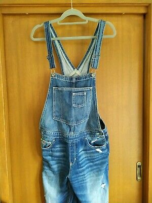 AU40 • Buy Hollister Distressed Overalls. Size Large.