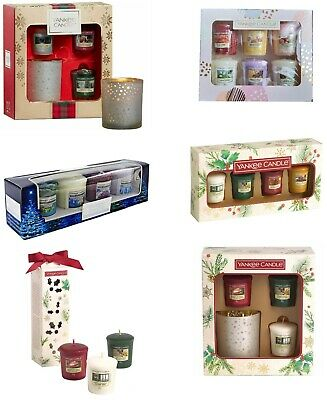 Yankee Candle Votive Christmas Collection Present Gift Sets Of 3, 4 And 6 Votive • 11.99£